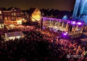 Koninklijke Harmoniekapel Delft tijdens Lichtjesavond 2013