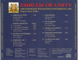 back cover Emblem of Unity
